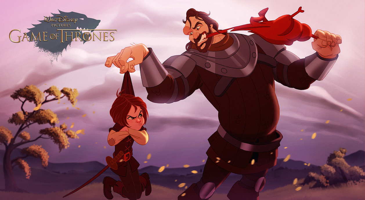 E se game of thrones fosse un cartone animato disney