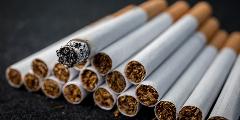 BRISTOL, ENGLAND - JUNE 10:  A close-up view of cigarettes on June 10, 2015 in Bristol, England. Health campaigners have asked for a levy on the tobacco industry to help fund anti-smoking measures. (Photo by Matt Cardy/Getty Images)